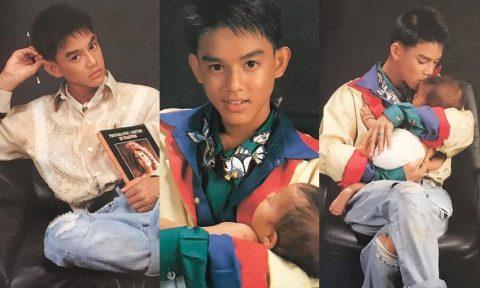 มอส ลงภาพอุ้มเด็กถ่ายแบบครั้งแรกตอนอายุ 16